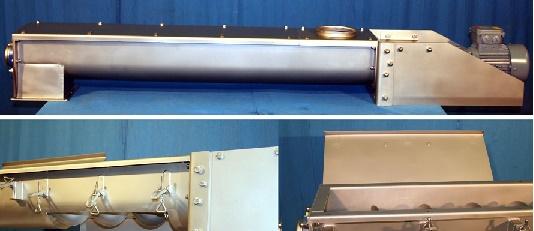 开放式U型槽不锈钢螺旋输送机